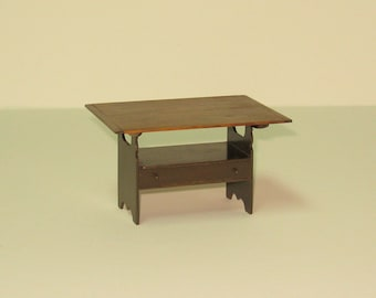 Early American Hutch Table - 1/12th scale
