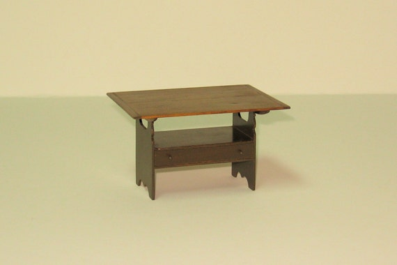 Early american hutch table 1 12th scale for Table insert th