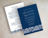 Denim and lace wedding invitation, country wedding invitation, country chic invitations, country chic wedding, wedding invitations, Denim