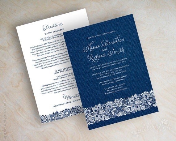 Denim Wedding Invitations