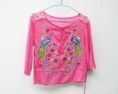 Asian embroidered blouse