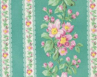 Snapshot Blooming Border Stripe Verna Mosquera  Cotton Fabric PWVM115shade