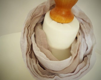 Girls - Ladies Moody Lavender Long Cotton Snood Infinity Scarf - Naturally Dyed - Childrens Organic Summer Beach Accessory