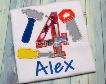 Personalized Tool Birthday Shirt