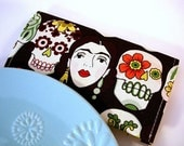 Frida Sugar Skulls Checkbook Cover