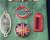 Metal England Charms