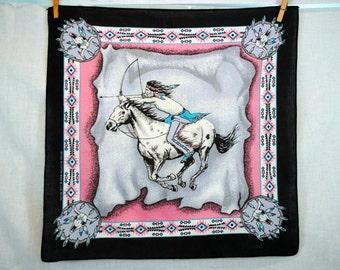 SALE! Vintage 80s Southwest Native American Bandana Kerchief