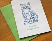 Cat Puke Card