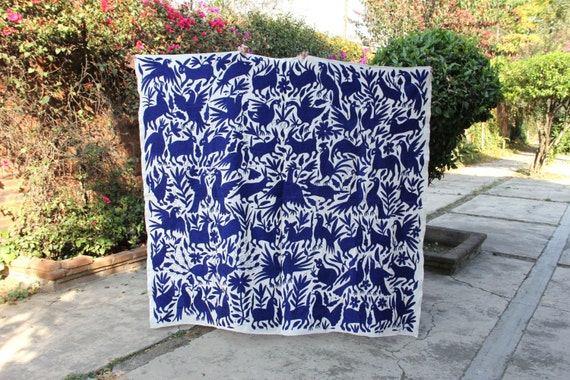 Cobalt Blue Otomi piece ready to ship