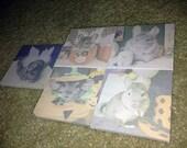 Set of 5 sticky post-its - Custom Order for kittnlvr3