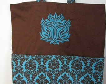 Damask Eco Friendly Bag, Tote, Market Tote or Purse