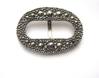 Vintage French Cut Steel Buckle Vintage Accessory