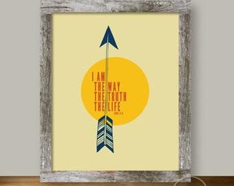 Arrow Christian Art - I Am the Way - 8x10 Wall Art Instant Printable