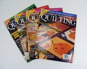 American Patchwork & Quilting Magazines 1996/1999 lot of 4 sewing and craft mags