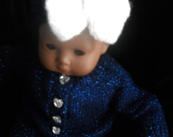 Christmas SALE was 17.00 now 15.00 Bitty Baby American Girl  18in Dolls Diamonds and Sapphire Sweater with heart buttons New Year