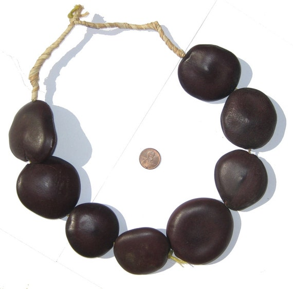 8 natural seed beads large african beads natural wood for Natural seeds for jewelry making