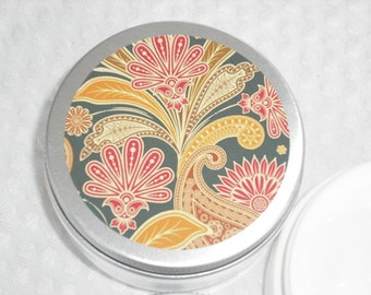 Hand & Body Lotion / YOUR CHOICE / 2 oz / Cute floral design Metal Lid Containers