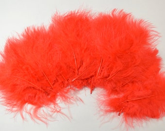 BULK Marabou Feather Plumes-Red, 20g