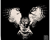 A H.owl (Wolf Owl Illusion) Design on Unisex Long Sleeve Shirt