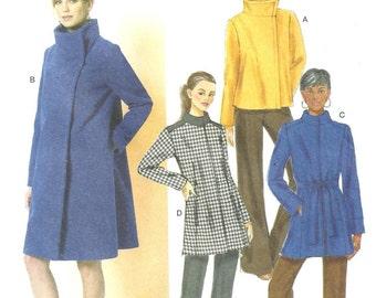 butterick B5822 Coat Jacket sz Xsm-Sml-Med UN-cut FF