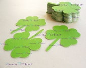 "24 Shamrock Die cut - Lucky Charms Tags - in Size 2"" In Non-textured or Textured Cardstock paper"