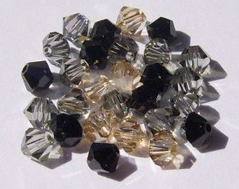 Swarovski crystal beads BICONE 5328 Crystal Beads  MIX  5   -- Available in 4mm and 6mm
