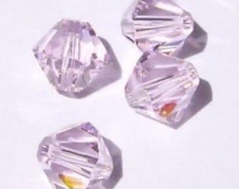 Clearance Sale -- 6 Swarovski crystal beads 8mm BICONE 5301 Crystal Beads Rosaline AB