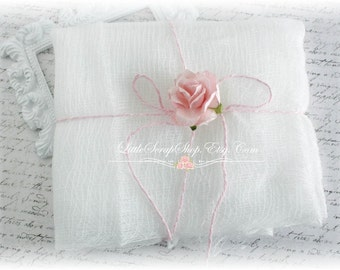 Cheese Cloth for Scrapbooking, Cardmaking, Altered Art, Mixed Media, Home Decor
