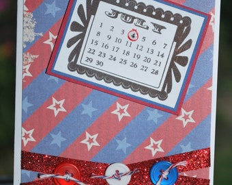 4th of July Calendar Card