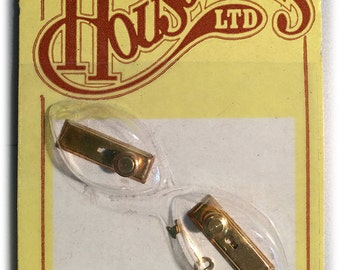 1978 Houseworks Miniature Dollhouse Gold Plated Brass Door Knobs 2-Pack 6 Packs available Dolls Doors