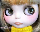 New Soft Resin REALISTIC OOAK custom Blythe eye chips set C8 , by Ana Karina. UV laminated