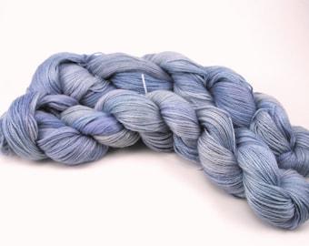 Baby Alpaca and Tencel fingering weight yarn - Evening Sky - 100g