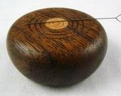 Wooden Magnetic Needle Keeper  - Black Walnut and Big Leaf Maple Wood, Handmade by Greg Hanson