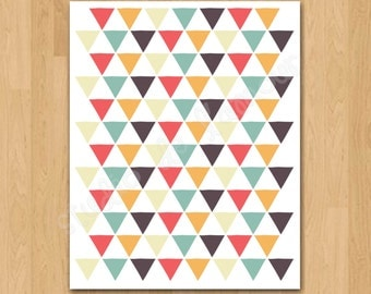 PRINTABLE PDF Instant Download Triangles Print
