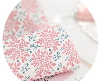 Pink Natural Floral cotton, U003
