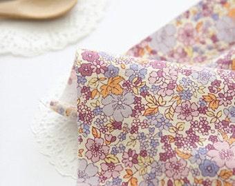 Lovely spring Pink floral on Cotton, U081