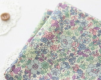 Lovely spring Blue floral on Cotton, U082