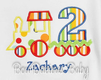 Train Birthday Shirt, Boys Birthday Shirt, Monogrammed, Train Number, Personalized Birthday Shirt, Tank,Bodysuit,Romper, Gift