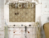 Painted Cottage Chic Shabby Farmhouse Jewelry Organizer HD107