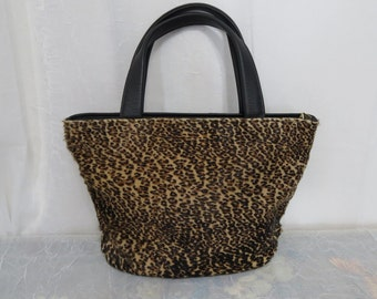 Valerie's Handbags Leopard print pony hair and leather purse