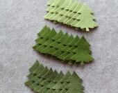 Greensleeves - Small Christmas Trees Value Pack - 72 Die Cut Wool Blend Felt Shapes