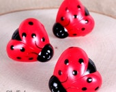 Ladybug Party Cupcake Rings, Party Favor Rings, Kids Party Favor Rings, Ladybug Summer Party, Ladybug Cupcake Toppers (12 ct)