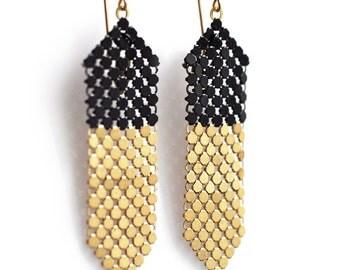 Dipstick Earrings - Gold Base