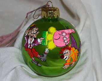 Hand-Painted Ornament - Clowns Item 1058C