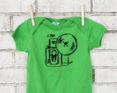 Funny Camera Onepiece, Oh Shap Photography Baby Bodysuit, Cotton Infant Clothing Bright Apple Green, Spring and Summer Fashion Short Sleeved