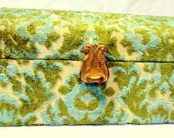 Vintage 1960s Tapestry Box By Shiseido