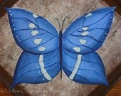 Blue Butterfly Candle Mat