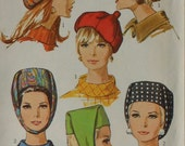 Vintage Hat Sewing Pattern UNCUT Simplicity 7326 Three Styles