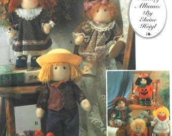 Cloth Dolls and Clothes Sewing Pattern UNCUT Simplicity 8763