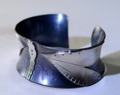 Anticlastic Massive Sterling Silver Dragonfly Cuff Bracelet